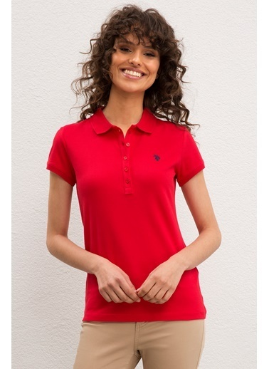 U.S. Polo Assn. U.S. Polo Assn. Kadın Tişört 937511-VR030 937511-VR030003 Kırmızı